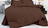 Двоспальне постільна білизна RANFORCE коричневе однотонне