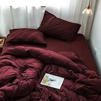 Двоспальне постільна білизна RANFORCE сливового кольору