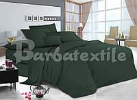 Двоспальне постільна білизна RANFORCE зелене забарвлення