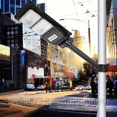 Уличный светильник на солнечной батарее UKC 5622 с датчиком движения 60 Вт Черный (hub_bbmj48471)