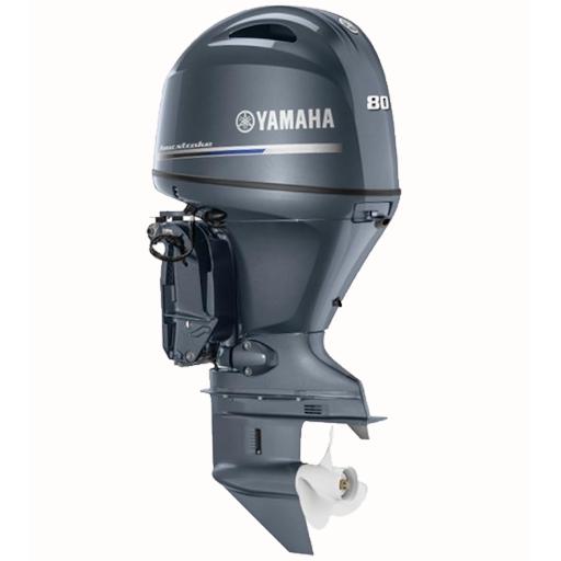 Лодочный мотор Yamaha, 80 лс, 4 тактный, F80DETX (F80XB) - подвесной мотор для яхт и рыбацких лодок