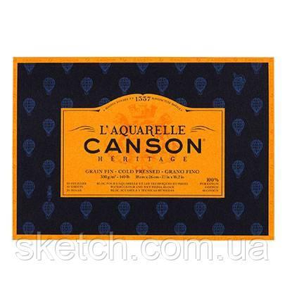 Аьбом для акварелі холодного преcуванняя Canson Heritage, 300гр,  18х26см, 20л.