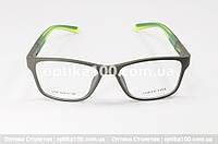 Оправа для окулярів у спортивному стилі. Оливково-зелена пластикова матова, фото 1
