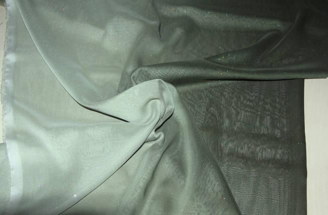 Шифон с блестками темно-зеленый, фото 2