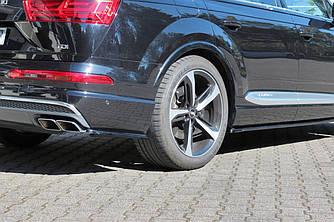 Элероны Audi Sq7 / Q7 S-line 4M (15-19) тюнинг сплиттера заднего бампера