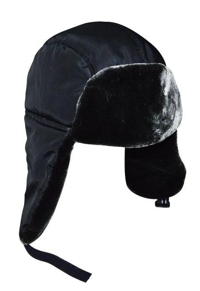 Шапка-ушанка чёрная