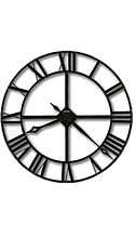 Настенные круглые часы 18см