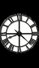 Настінні круглий годинник 18см