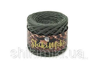 Пряжа трикотажна Maccaroni Leather Look, колір Темно зелений