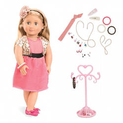 Детская кукла Адра с украшениями, 46 см, Our Generation