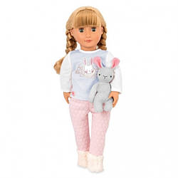 Детская кукла Джови, в пижаме, с кроликом, 46 см, Our Generation