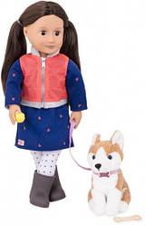 Кукла для девочки, с собачкой, 46 см, Our Generation