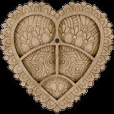 Панно сердце 36см