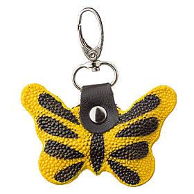Брелок сувенір метелик STINGRAY LEATHER 18538 з натуральної шкіри морського скату Жовтий