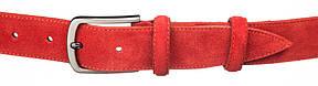 Ремінь замшевий MAYBIK 15264 Червоний, фото 2