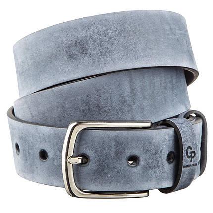 Ремень мужской GRANDE PELLE 11139 джинсовый Синий, фото 2