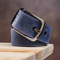 Ремень мужской GRANDE PELLE 11139 джинсовый Синий, фото 3