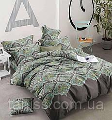 """Евро комплект постельного белья  """"ранфорс"""", расцветка как на фото, узор"""