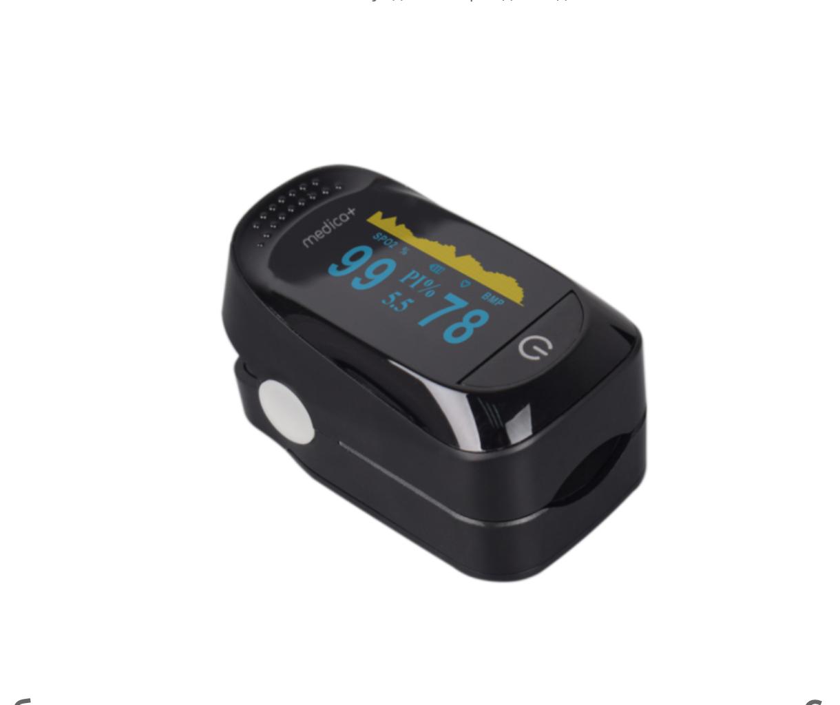 Пульсоксиметр на палец для измерения пульса и сатурации крови MEDICA+ CARDIO CONTROL 7.0 BLACK