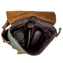 Рюкзак з бічними кишенями canvas Vintage 20112 Світло-сірий, фото 3