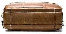 Сумка чоловіча горизонтальна зі шкіри Vintage 20005 Руда, фото 3