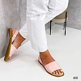 ТОЛЬКО  36 р!!! Босоножки- менорки женские розовые / пудра натуральная кожа, фото 3