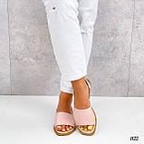 ТОЛЬКО  36 р!!! Босоножки- менорки женские розовые / пудра натуральная кожа, фото 4