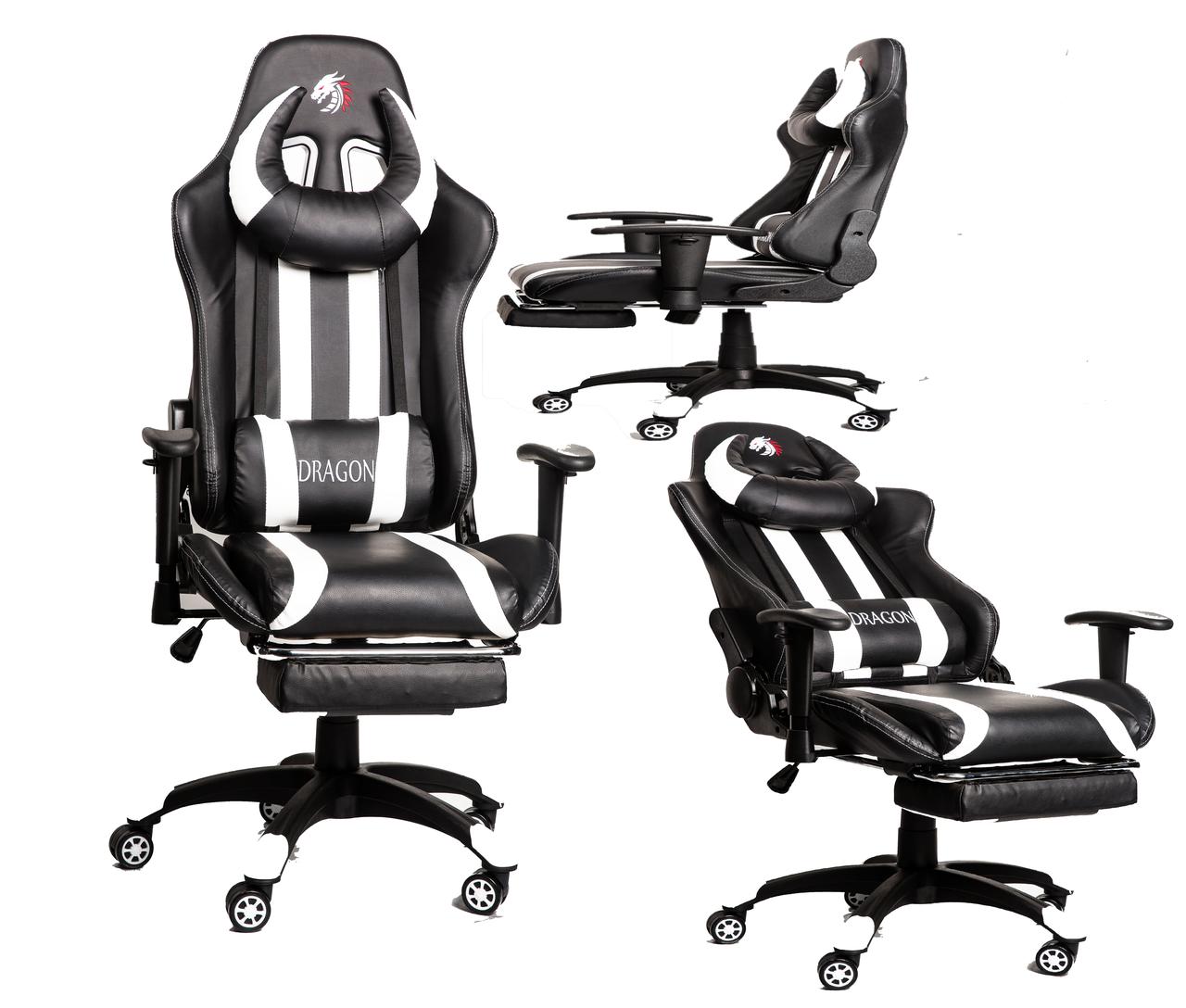 Комп'ютерне крісло для геймерів ZANO DRAGON WHITE
