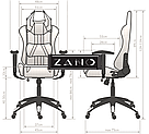 Комп'ютерне крісло для геймерів ZANO DRAGON WHITE, фото 9