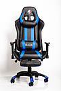 Комп'ютерне крісло для геймерів ZANO BLUE DRAGON, фото 3