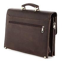 Портфель SHVIGEL 00752 з вінтажній шкіри Коричневий, фото 2