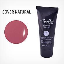 Полигель для нігтів Tertio Poly Gel Acryl Gel Polygel Nail Enhancement №07 Cover Natural, 30 мл