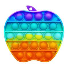 Поп ит оптом радужный сердце хорошего качества яблоко радужное