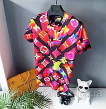Мужская футболка в стиле Louis Vuitton разноцветная луи виттон Топ Качество
