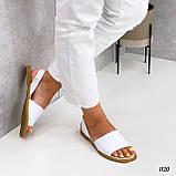 Босоножки- менорки женские белые  натуральная кожа, фото 4