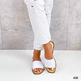 Босоножки- менорки женские белые  натуральная кожа, фото 6