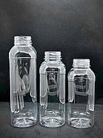 Бутылка пласт. прозр. с кр. 500 мл КВАДРАТНА с широким горлом PET 30шт/уп
