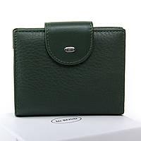 Женский кожаный кошелек 9.5*12*2.5 зеленый, фото 1
