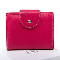 Женский кожаный кошелек 9.5*12*2.5 малиновый, фото 1