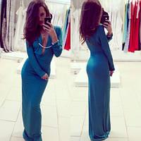 Платье с глубоким декольте и украшением (разные цвета)