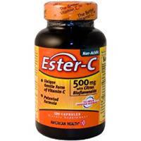 Ester-C (Эстер Си) Нейтральный Витамин С с биофлавоноидами 60 капс 500 мг для иммунитета American Health USA