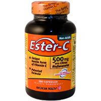 Ester-C (Эстер Си) Нейтральный Витамин С с биофлавоноидами 60 капс 500 мг для иммунитета American Healt