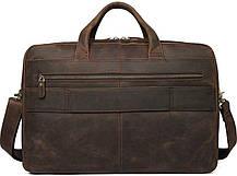 Сумка для ноутбука Vintage 14522 Коричнева шкіряна, фото 2