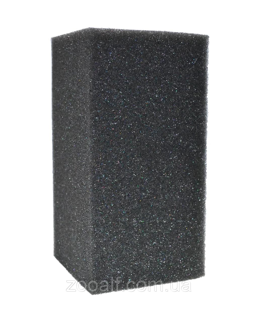 Фильтрующая губка для фильтра аквариумного прямоугольная серая 16х5,5х5 см