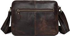 Сумка мужская Vintage 14584 кожаная Коричневая, фото 3