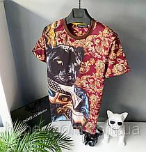 Мужская футболка в стиле Dolce Gabbana черная дольче Габбана