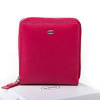 Жіночий шкіряний гаманець 10.5*11*2 малиновий, фото 1