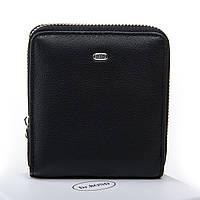 Женский кожаный кошелек 10.5*11*2 чёрный, фото 1
