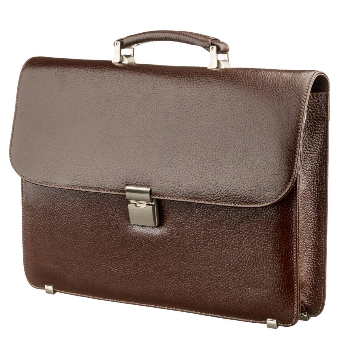Портфель мужской KARYA 17272 кожаный Коричневый