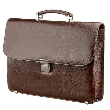 Портфель мужской KARYA 17272 кожаный Коричневый, фото 2
